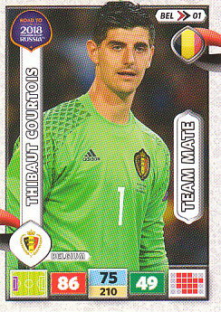 Thibaut Courtois Belgium Panini Road to 2018 World Cup #BEL01
