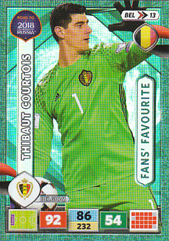 Thibaut Courtois Belgium Panini Road to 2018 World Cup Fan's Favourite #BEL13