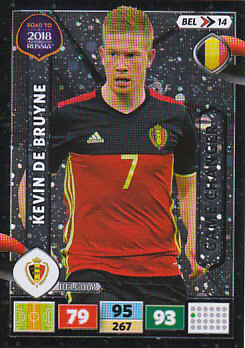 Kevin De Bruyne Belgium Panini Road to 2018 World Cup Game Changer #BEL14
