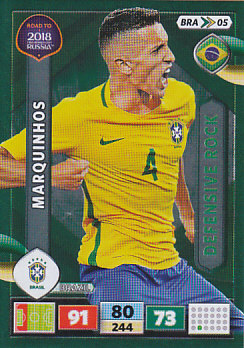 Marquinhos Brazil Panini Road to 2018 World Cup Defensive Rock #BRA05