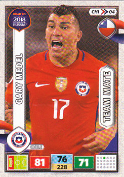 Gary Medel Chile Panini Road to 2018 World Cup #CHI04