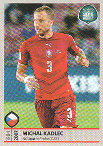 Michal Kadlec Czech Republic samolepka Road to World Cup 2018 #36