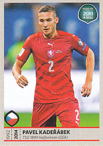 Pavel Kaderabek Czech Republic samolepka Road to World Cup 2018 #37