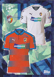 Home/Away Kit Viktoria Plzen samolepka UEFA Champions League 2018-2019 #479