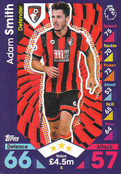 Adam Smith AFC Bournemouth 2016/17 Topps Match Attax #4