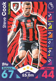 Steve Cook AFC Bournemouth 2016/17 Topps Match Attax #7