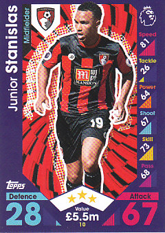 Junior Stanislas AFC Bournemouth 2016/17 Topps Match Attax #10