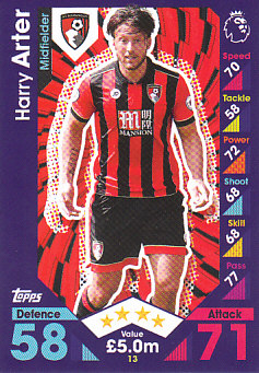 Harry Arter AFC Bournemouth 2016/17 Topps Match Attax #13