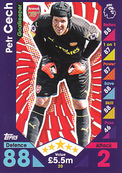 Petr Cech Arsenal 2016/17 Topps Match Attax #20