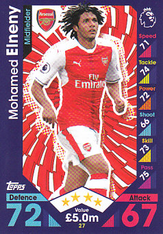 Mohamed Elneny Arsenal 2016/17 Topps Match Attax #27
