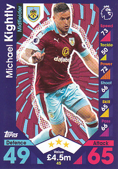 Michael Kightly Burnley 2016/17 Topps Match Attax #45