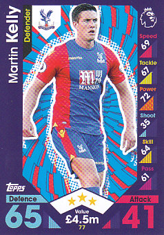 Martin Kelly Crystal Palace 2016/17 Topps Match Attax #77