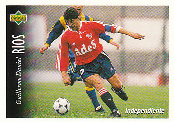 Guillermo Rios Atletico Independiente 1995 Upper Deck Futbol Argentina #26