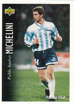 Pablo Andres Michelini Racing Club 1995 Upper Deck Futbol Argentina #49