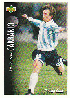 Silvio Rene Carrario Racing Club 1995 Upper Deck Futbol Argentina #51