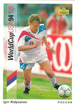 Igor Kolyvanov Russia Upper Deck World Cup 1994 Preview Eng/Ger #4