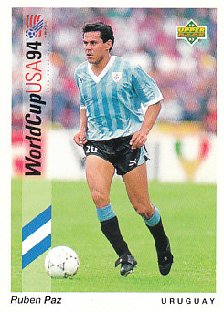 Ruben Paz Uruguay Upper Deck World Cup 1994 Preview Eng/Ger #5