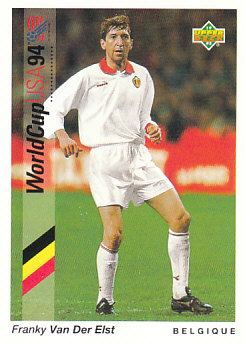 Franky Van Der Elst Belgium Upper Deck World Cup 1994 Preview Eng/Ger #8