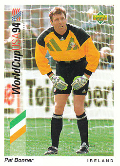 Pat Bonner Republic of Ireland Upper Deck World Cup 1994 Preview Eng/Ger #9