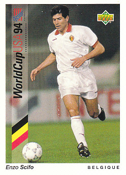Enzo Scifo Belgium Upper Deck World Cup 1994 Preview Eng/Ger #11