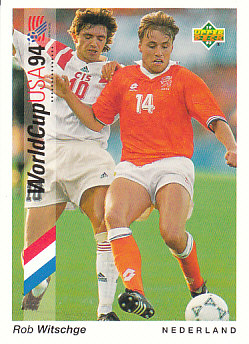 Rob Witschge Netherlands Upper Deck World Cup 1994 Preview Eng/Ger #14