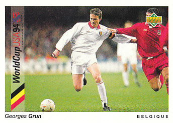 Georges Grun Belgium Upper Deck World Cup 1994 Preview Eng/Ger #19