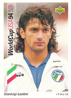 Gianluigi Lentini Italy Upper Deck World Cup 1994 Preview Eng/Ger #24
