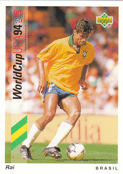 Rai Brazil Upper Deck World Cup 1994 Preview Eng/Ger #26