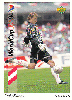 Craig Forrest Canada Upper Deck World Cup 1994 Preview Eng/Ger #30