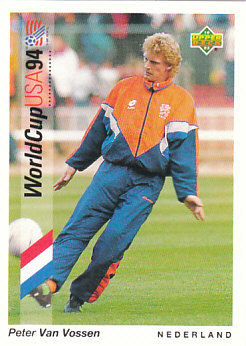 Peter Van Vossen Netherlands Upper Deck World Cup 1994 Preview Eng/Ger #31