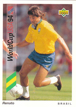 Renato Brazil Upper Deck World Cup 1994 Preview Eng/Ger #35