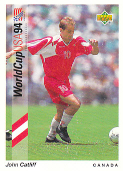 John Catliff Canada Upper Deck World Cup 1994 Preview Eng/Ger #37
