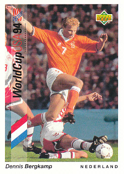 Dennis Bergkamp Netherlands Upper Deck World Cup 1994 Preview Eng/Ger #39