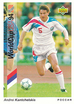 Andrei Kanchelskis Russia Upper Deck World Cup 1994 Preview Eng/Ger #42