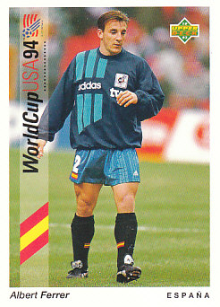 Albert Ferrer Spain Upper Deck World Cup 1994 Preview Eng/Ger #43