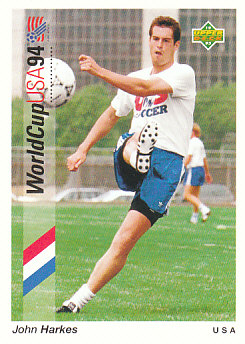 John Harkes USA Upper Deck World Cup 1994 Preview Eng/Ger #46