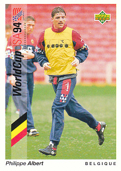 Philippe Albert Belgium Upper Deck World Cup 1994 Preview Eng/Ger #50