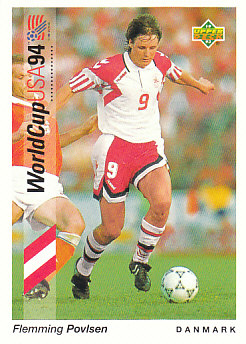 Flemming Povlsen Denmark Upper Deck World Cup 1994 Preview Eng/Ger #54
