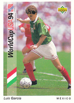 Luis Garcia Mexico Upper Deck World Cup 1994 Preview Eng/Ger #58