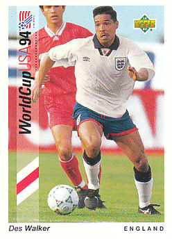 Des Walker England Upper Deck World Cup 1994 Preview Eng/Ger #63