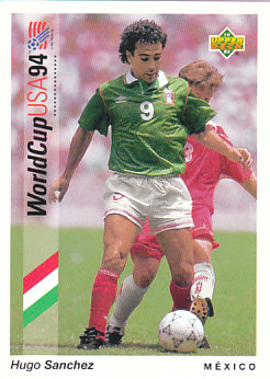 Hugo Sanchez Mexico Upper Deck World Cup 1994 Preview Eng/Ger #64