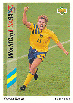 Tomas Brolin Sweden Upper Deck World Cup 1994 Preview Eng/Ger #65