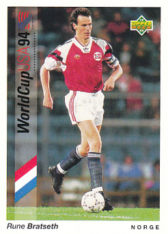Rune Bratseth Norway Upper Deck World Cup 1994 Preview Eng/Ger #69
