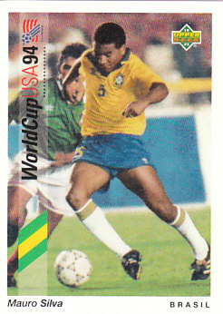 Mauro Silva Brazil Upper Deck World Cup 1994 Preview Eng/Ger #73
