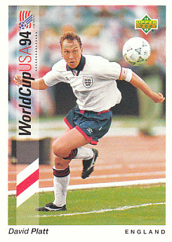 David Platt England Upper Deck World Cup 1994 Preview Eng/Ger #75