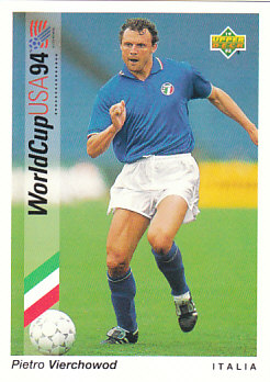 Pietro Vierchowod Italy Upper Deck World Cup 1994 Preview Eng/Ger #81