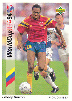 Freddy Rincon Colombia Upper Deck World Cup 1994 Preview Eng/Ger #83