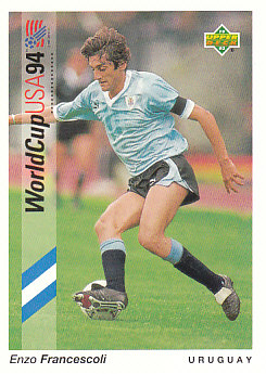 Enzo Francescoli Uruguay Upper Deck World Cup 1994 Preview Eng/Ger #84