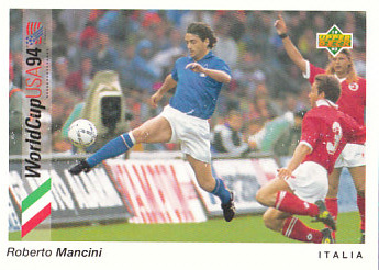 Roberto Mancini Italy Upper Deck World Cup 1994 Preview Eng/Ger #86