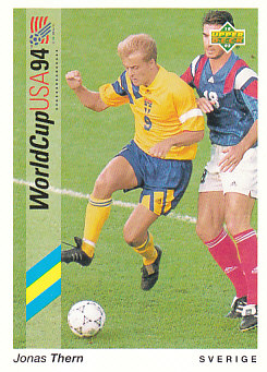 Jonas Thern Sweden Upper Deck World Cup 1994 Preview Eng/Ger #87